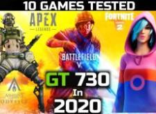 GT730 2GDDR3顯示卡遊戲測試 2021年-10項遊戲