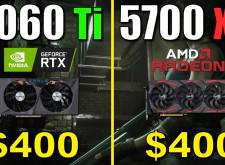 RTX 3060 Ti vs. RX 5700 XT |  1440p (9款)遊戲測試