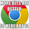 Google Chrome 64bit 瀏覽器開放下載
